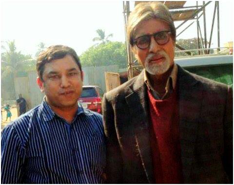 Mr. Amitabh Bachchan with Bollywood Astrolger Deepak